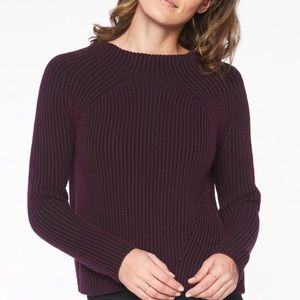 Athleta purple ribbed thick knit sweater xs